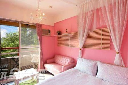 溫馨粉紅跑泡511,電梯大樓,有獨立衛浴及陽台,步行到逢甲夜市約8分鐘 - 西屯區 - Apartamento