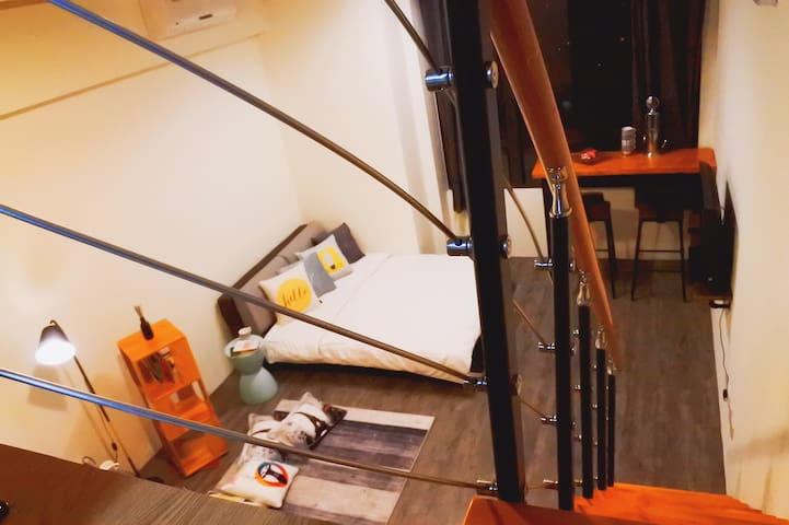 夜景寬敞舒適樓中樓 | New Spacious & Comfy Loft Near Mongkok