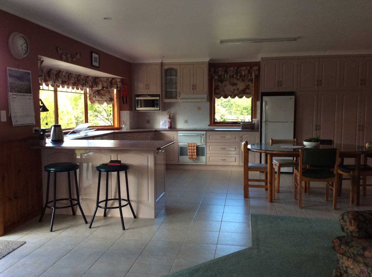 Open plan kitchen  Great for family meals