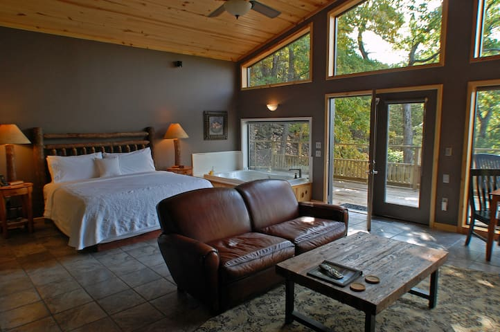 Spacious Bluff Cabin on Beaver Lake - Eureka Springs - Cabin
