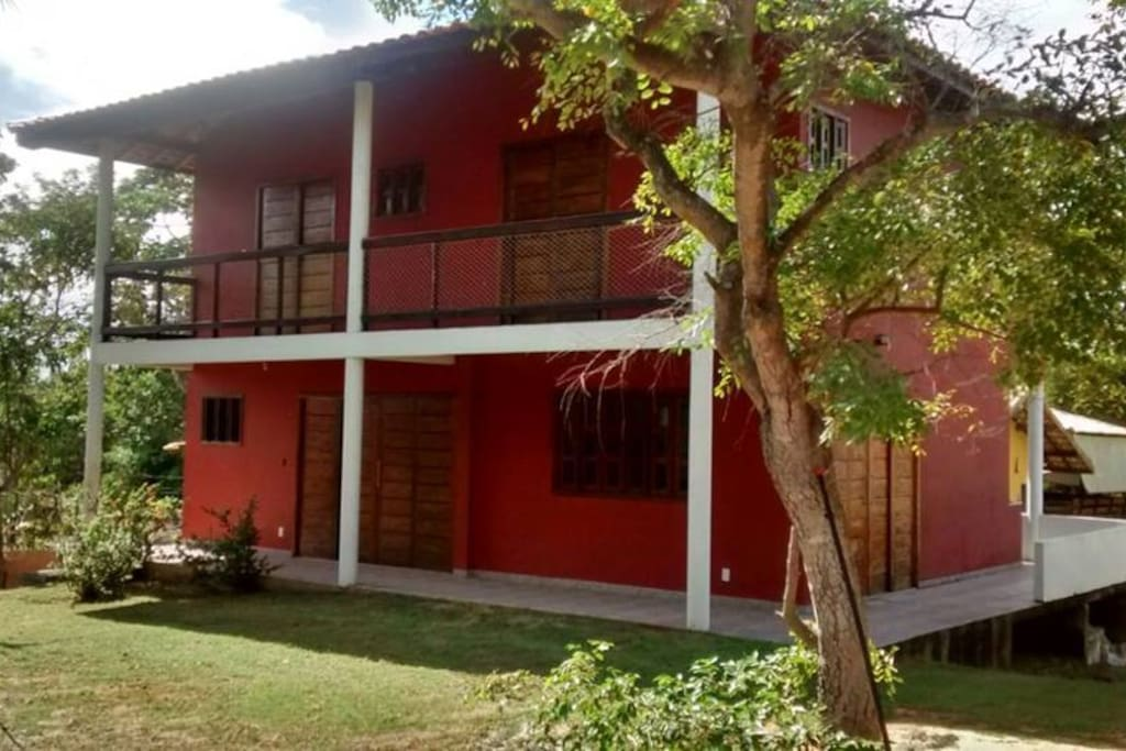 Vista da casa terrrea com 3 quartos