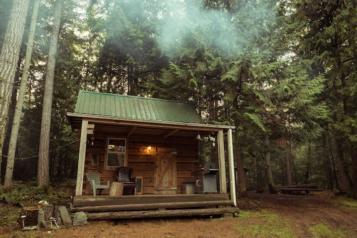 Broad Axed Rustic Log Cabin
