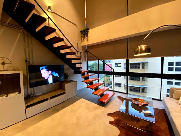 Confortable  apartamento tipo Loft Jacuzzi