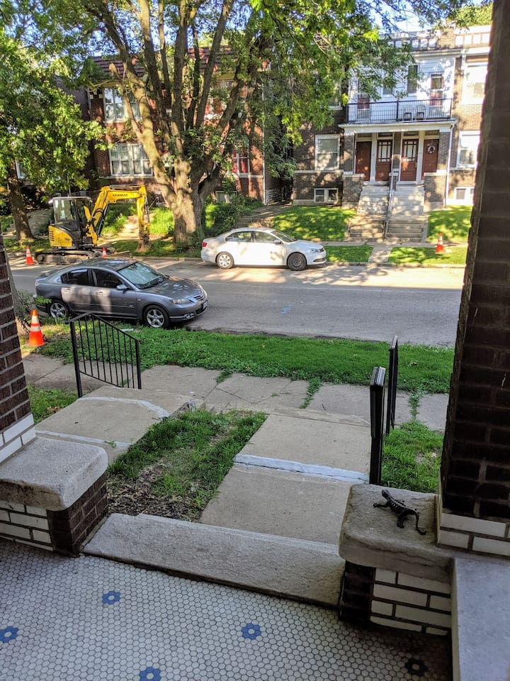 View from the Front Porch and On Street Parking
