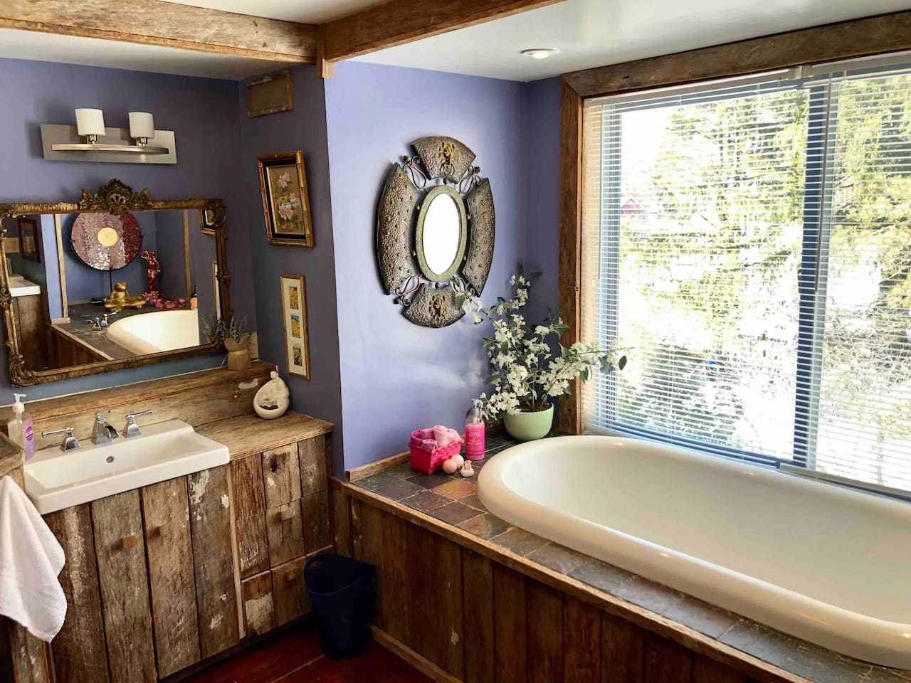 Luxurious bathroom with two person soaker tub