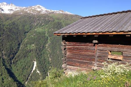Old barn Saralex, Val d'Herens 1600 m Valais - Saint-Martin - Blockhütte