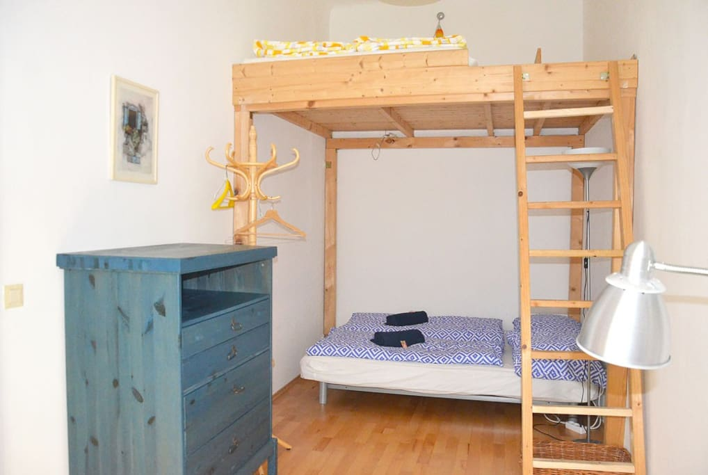 Bedroom two has a bunk bed fit for four