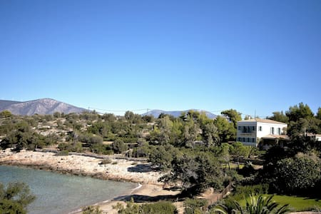 Electra Beachfront Villa with Tennis Court. - Porto Cheli