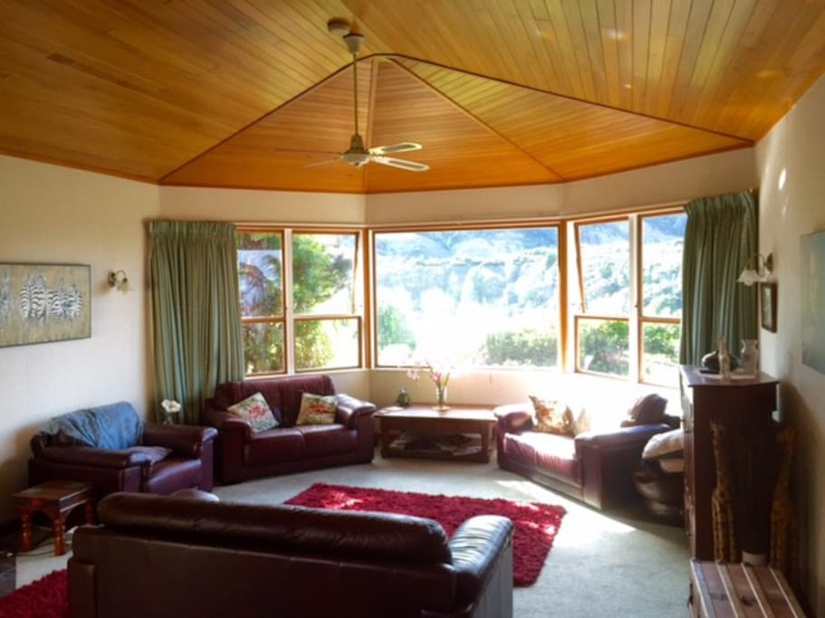 Large North facing lounge - great views and sun!