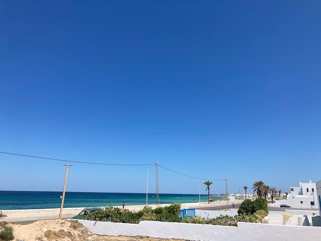 Maison de plage avec vue sur la mer