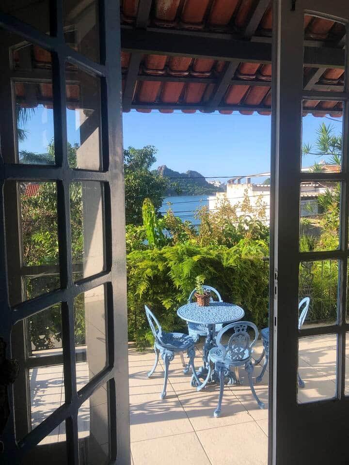 Casa na ilha do boi com ótima vista para o mar!