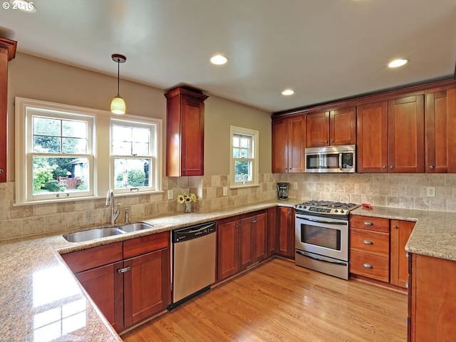 Kitchen with ample counter space