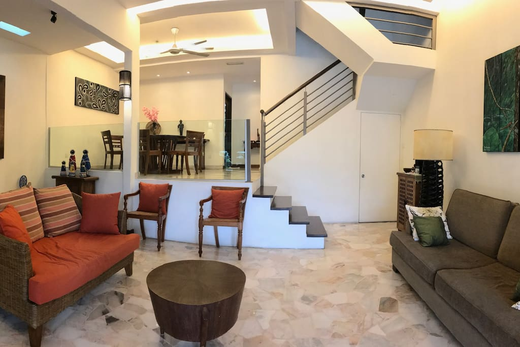Living Hall - hand picked furniture and paintings from Bali