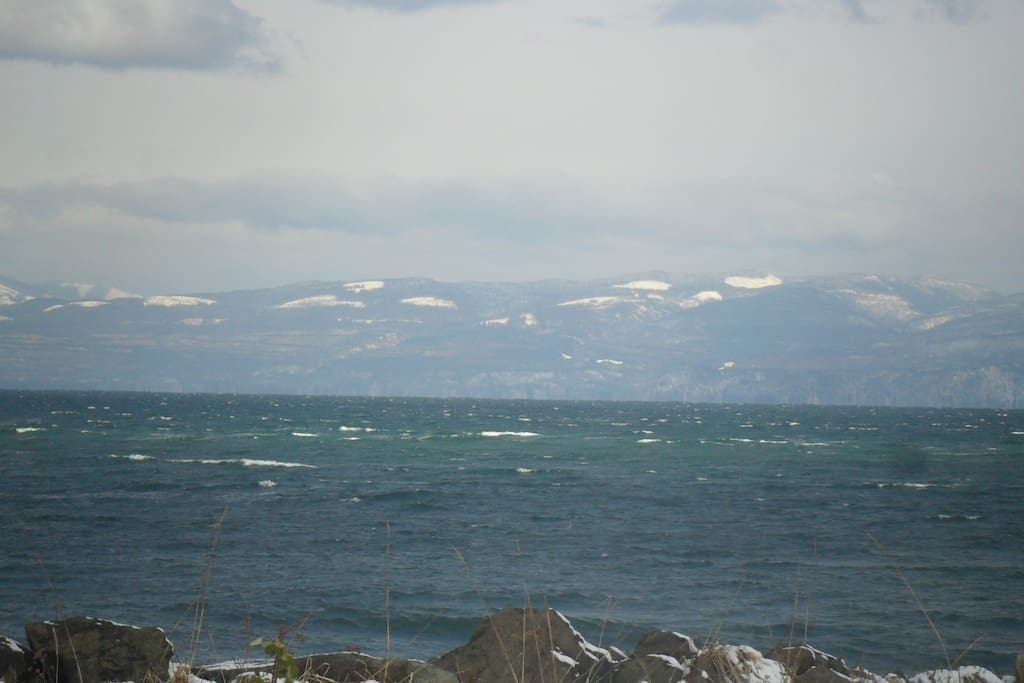 The view out back of Beautiful Vancouver Island, Canada. Watch the massive cruise ships head to and from Seattle/Alaska during late spring & summertime.