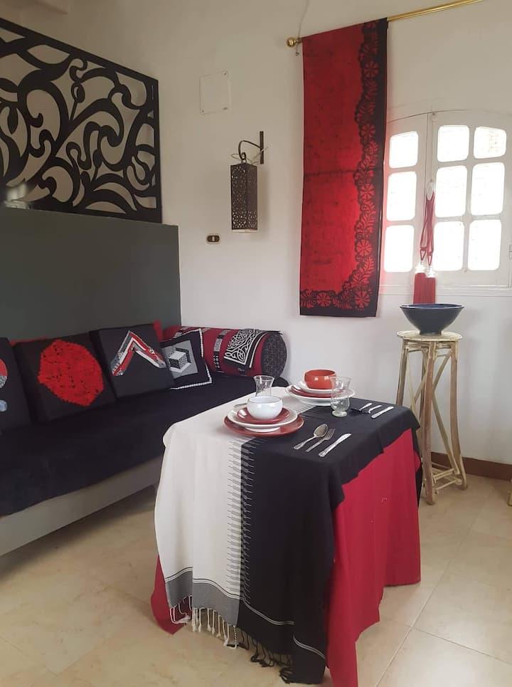 Royale artistieke studio dichtbij de Nijl