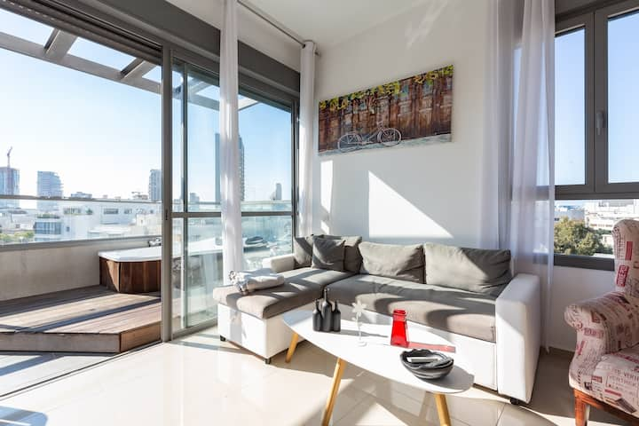 Enjoy Relaxed Healthy days @TLV Center Penthouse