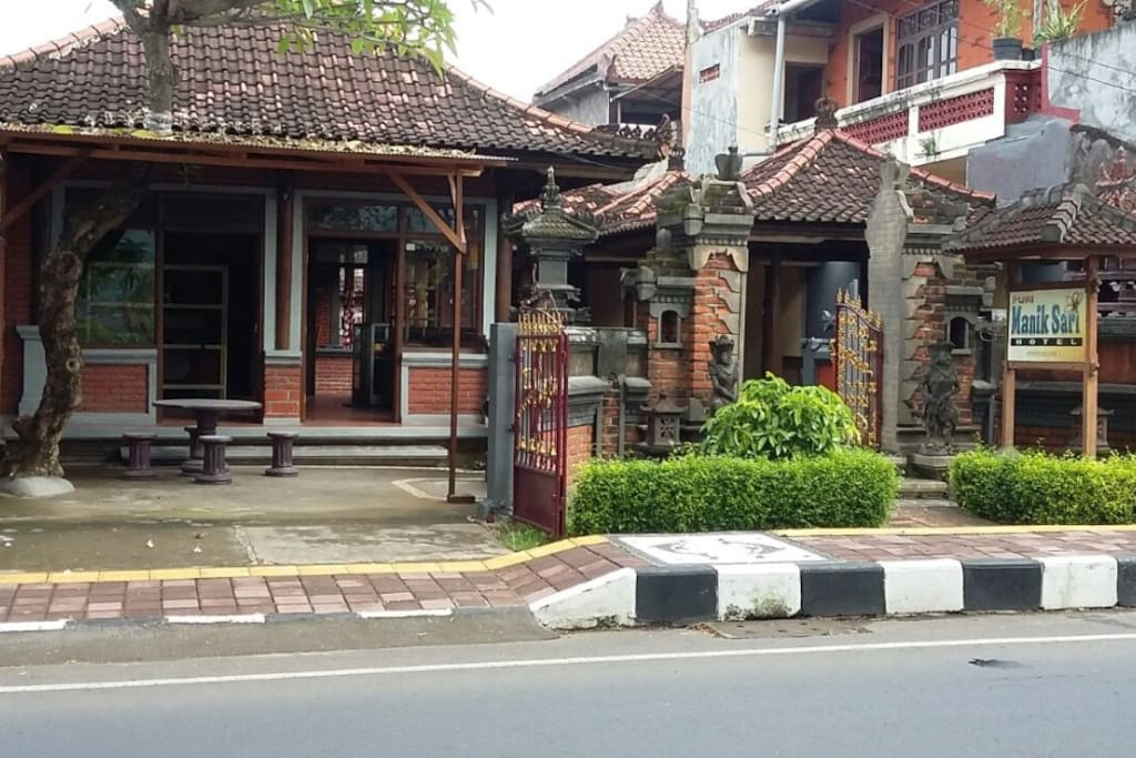 our place just beside Lovina's main road, but the room secluded inside hotel area
