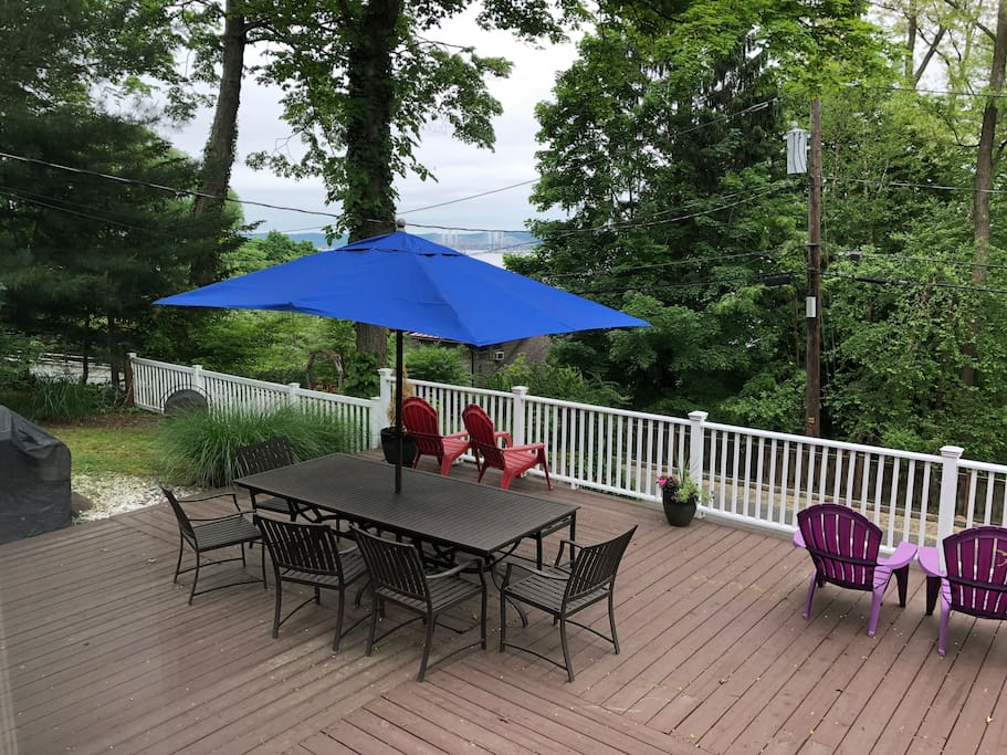 Outdoor deck with view