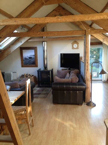 Bright and airy attic apartment - East Allington - Daire