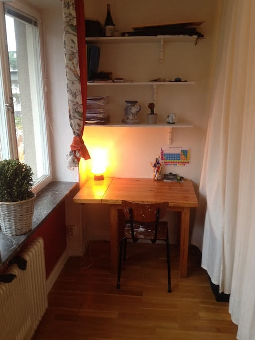 Work/study/reading space.