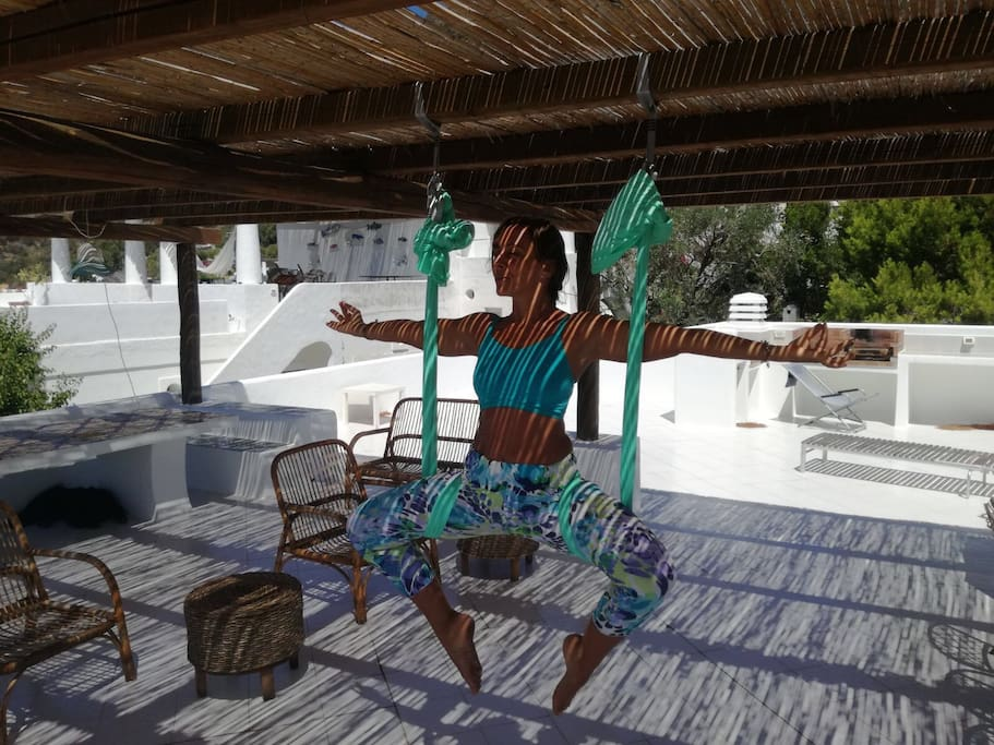 Sky Yoga Classes on Sunset Mediterraneo View