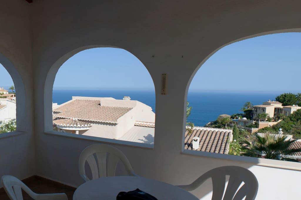 Vistas desde la terraza interior