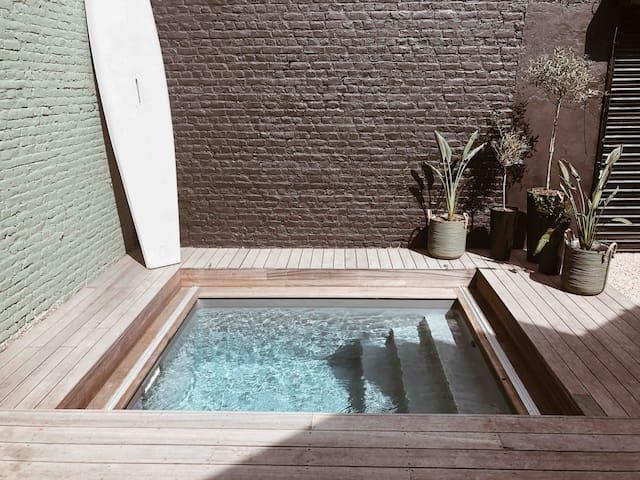 Loft avec piscine chauffée