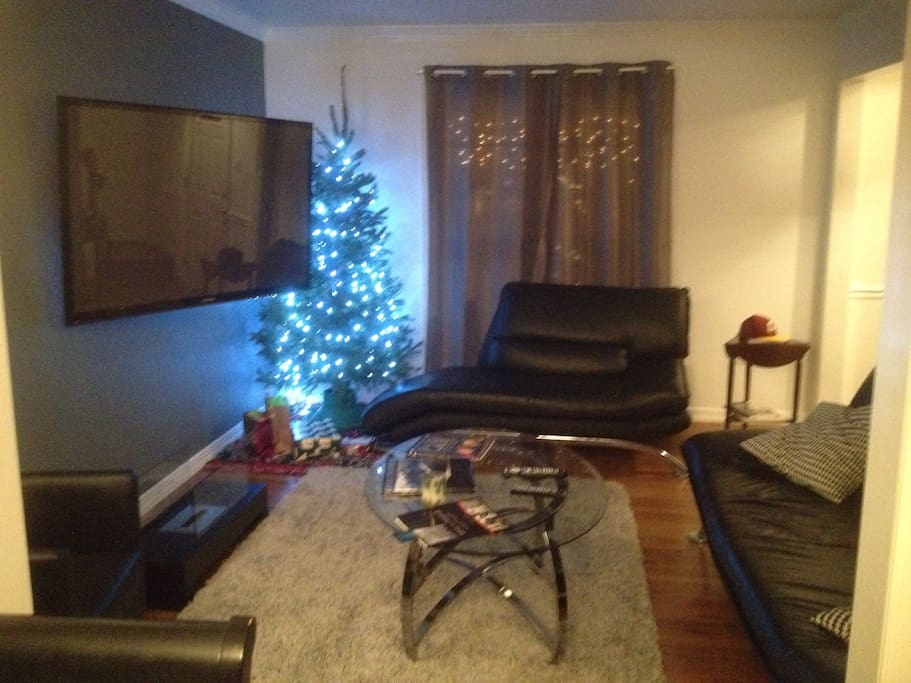 Living room with 60 inch plasma (cable,HBO, and Netflix available)