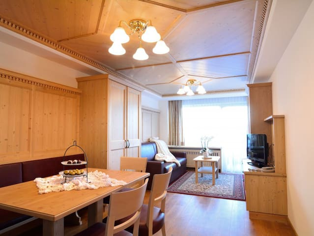 Two rooms apartment with balcony or garden terrace