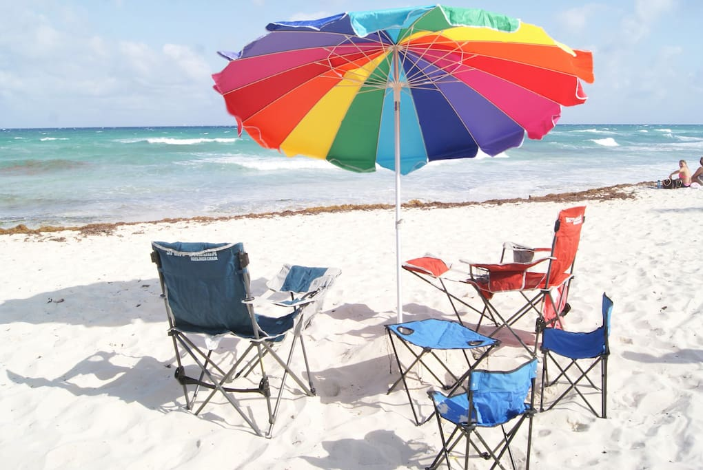 Free Beach Chairs and Umbrella