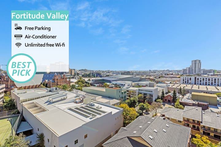 KOZYGURU | Fortitude Valley | AMAZING VIEW 2Bed APT +  FREE PARKING | QFV010