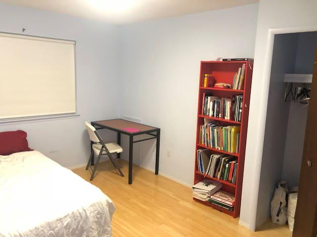 Closet and writing desk