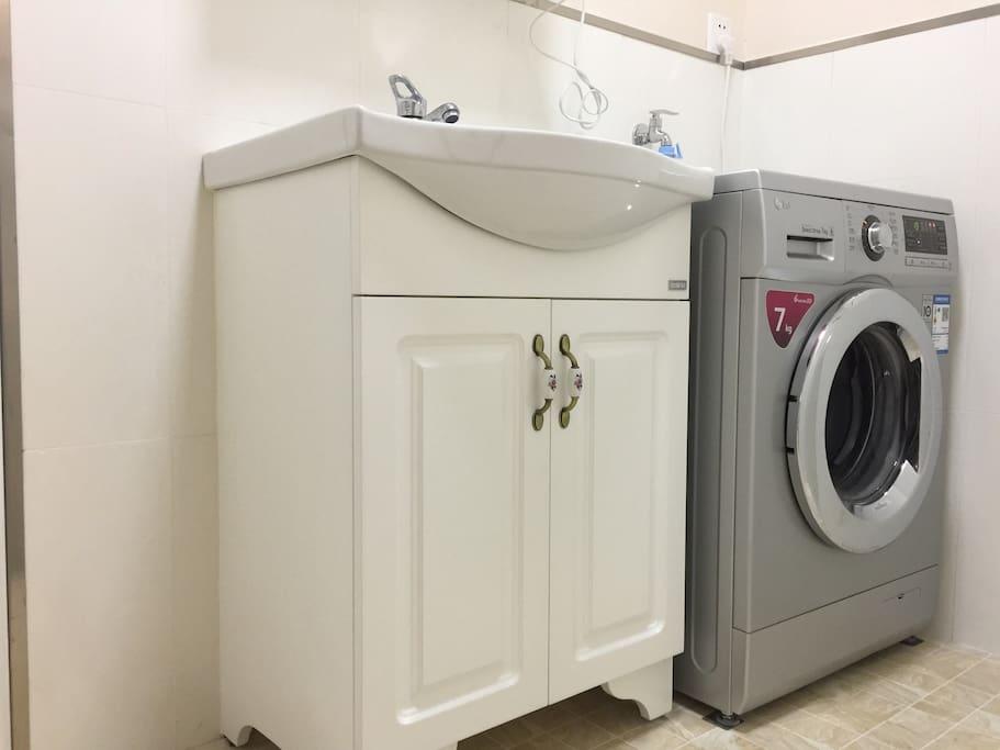 洗手台洗衣机