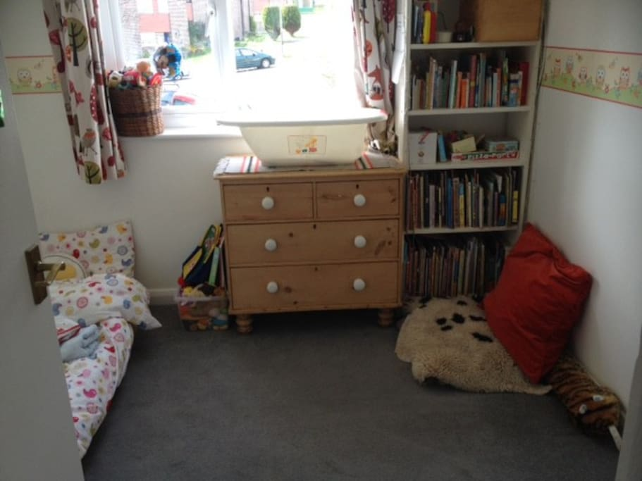 Small child's room with toddler bed (5 or under)
