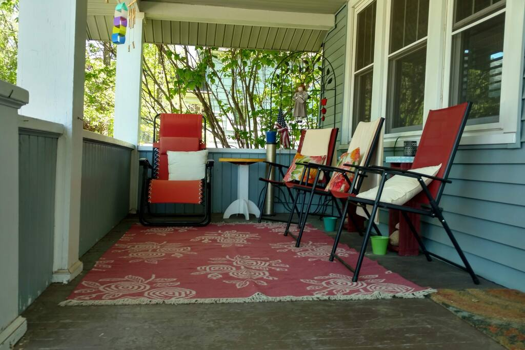 Relax on the front porch in the morning or after a full day of adventure.