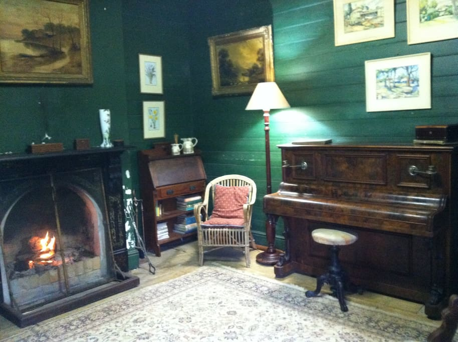 Original Sitting Room with Open Fire.