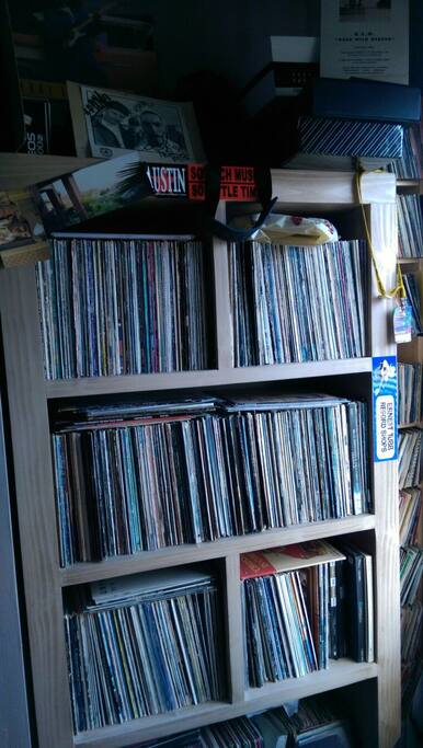 some of my vinyl,housed in the music room.