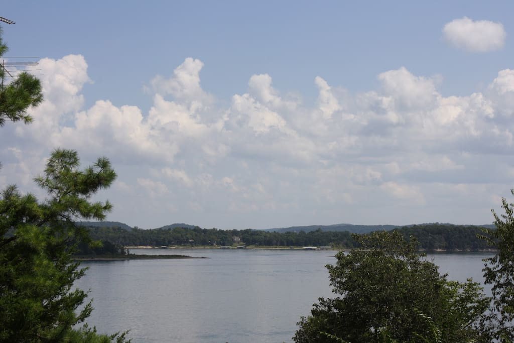 Summer Lake Views. Gorgeous Lake views can be seen from most rooms in the house!
