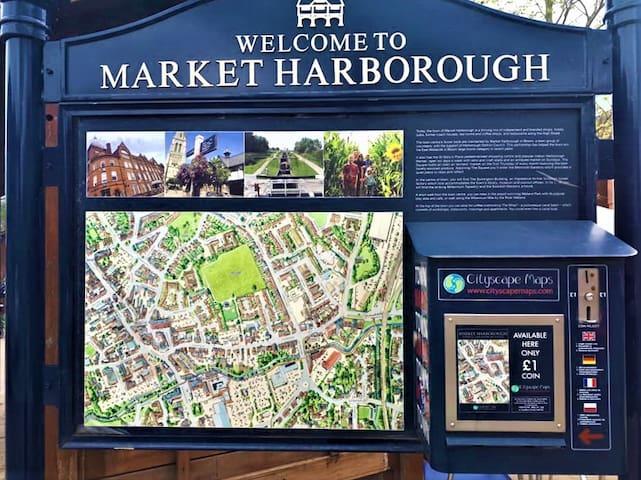 Kingsize bed in Market Harborough free parking