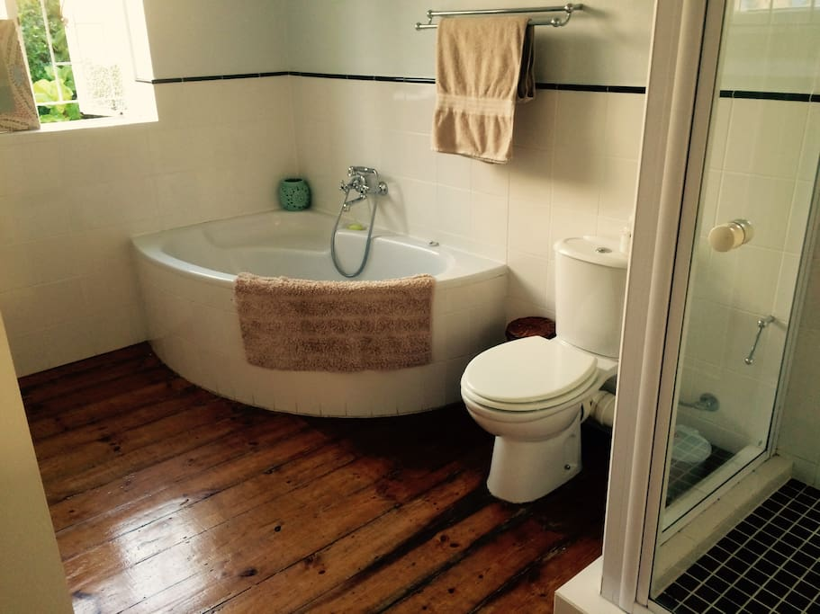 Private bathroom.  Luxurious bathtub.