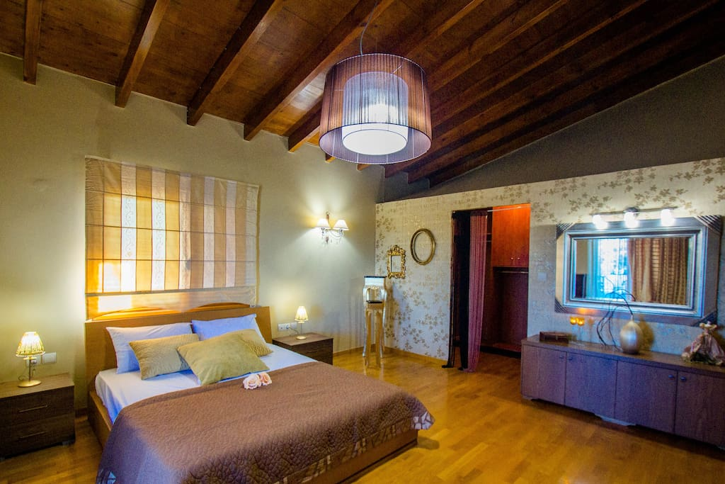 Master bedroom. Huge room with en suite closets and balcony
