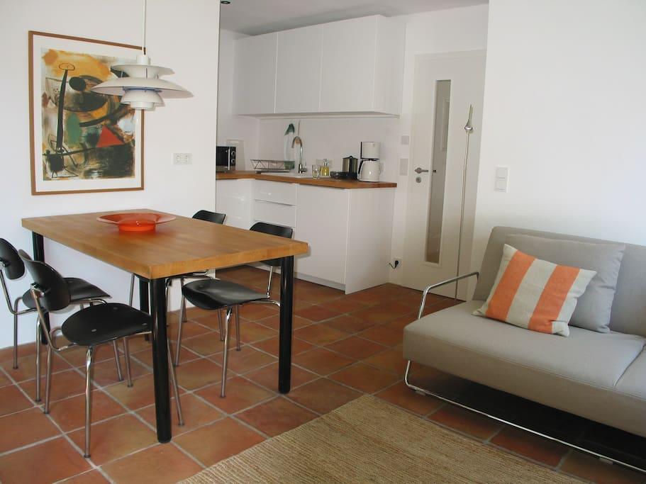 Terracotta-Boden Fußbodenheizung Sofa mit sehr guter Polsterung