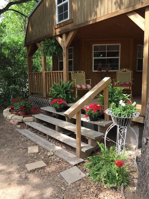 Do a little front porch sittin' !!