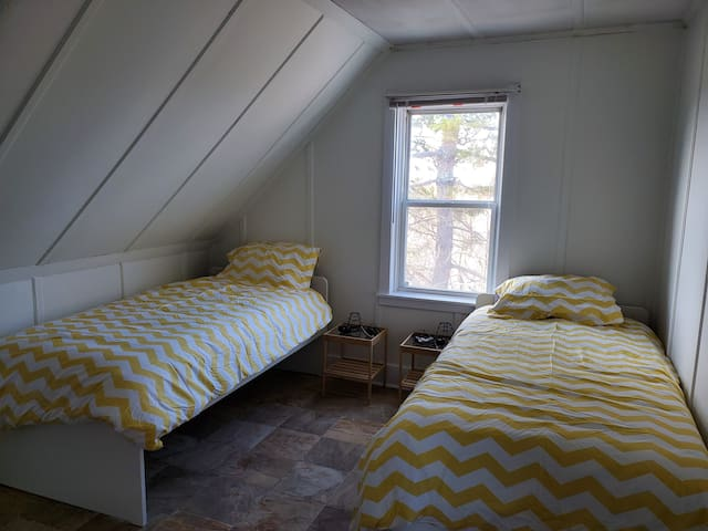 One of three bedrooms upstairs...brand new beds.