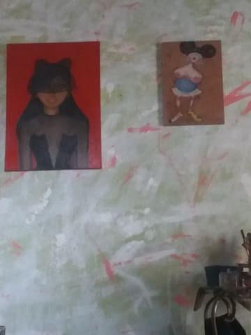 Studio de pintura e figurino no guetto - Rio de Janeiro