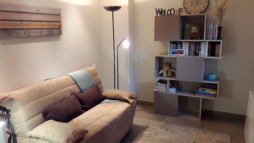 L'espace détente peut se transformer en chambre d'appoint.