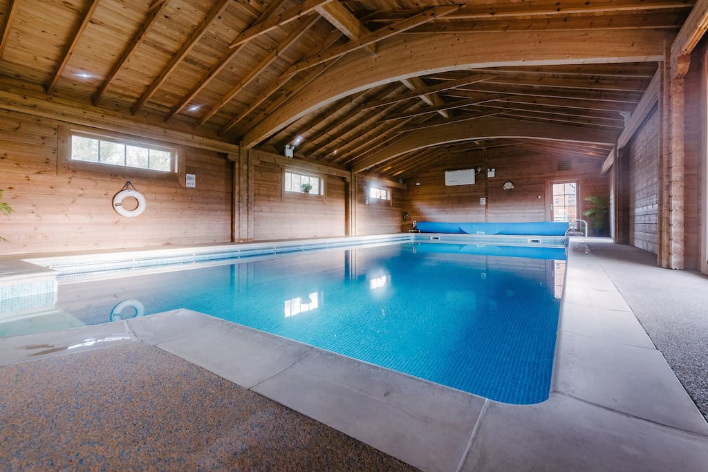 Indoor heated pool, sauna & gym