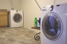 Laundry in the basement
