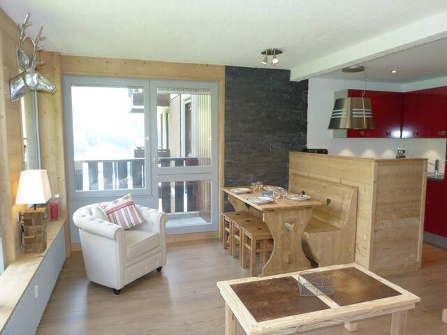 OUBR15 - Relaxing stay, mountain spirit, luminous, swimming pool nearby - LA CLUSAZ - Lakás