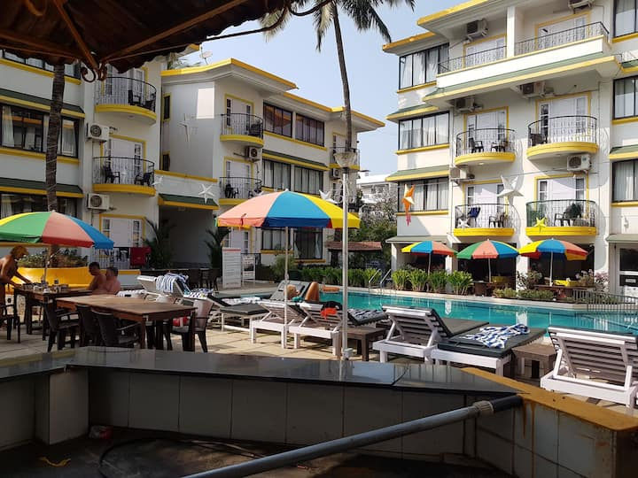 Cozy  studio with balcony close to Calangute beach